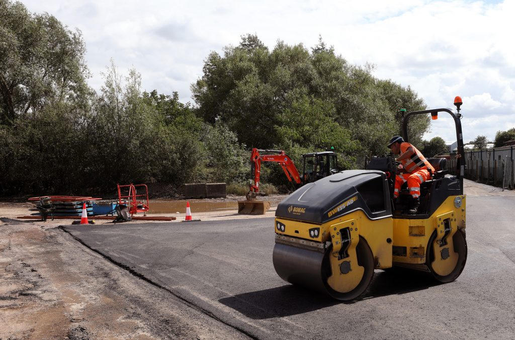 A10 Roundabout – works for new construction access underway
